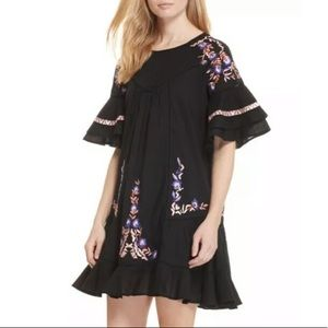 Free People Pablo Embroidered Dress